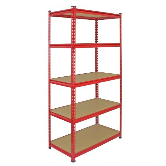 Qingtai QT6110 Powder Coated Rivet Warehouse shelving With 5 Layers