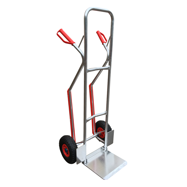 Qingtai QT3073 150KG Aluminium Two Pneumatic Wheel Heavy Duty Hand Trolley truck For Sale