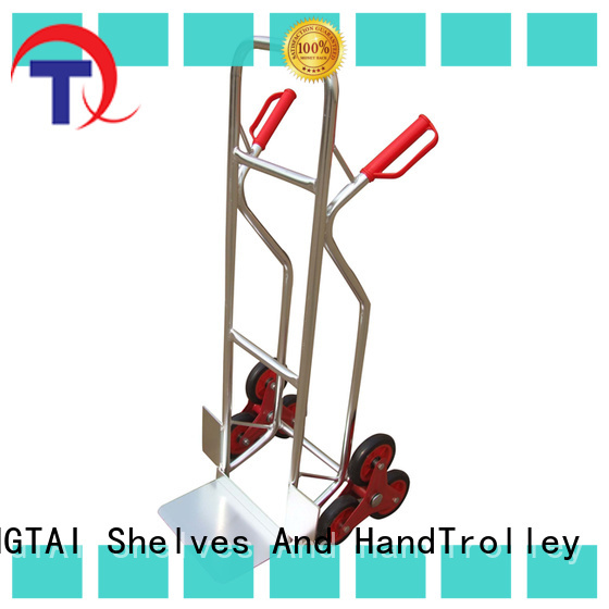 comfortable handle hand trolley company for warehouses