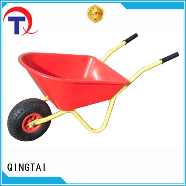 QINGTAI fully functional industrial wheelbarrow factory for carry mulch