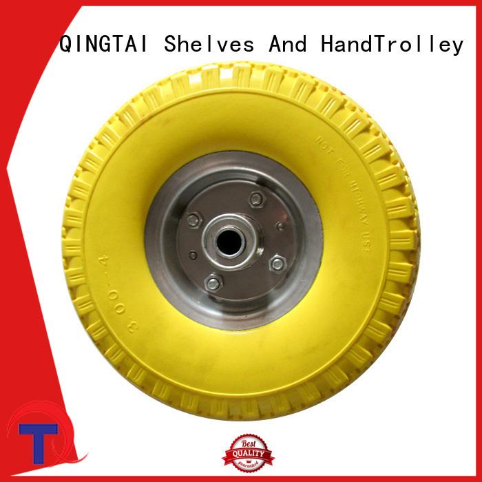 QINGTAI Top quality wheelbarrow wheels supplier for hand cart