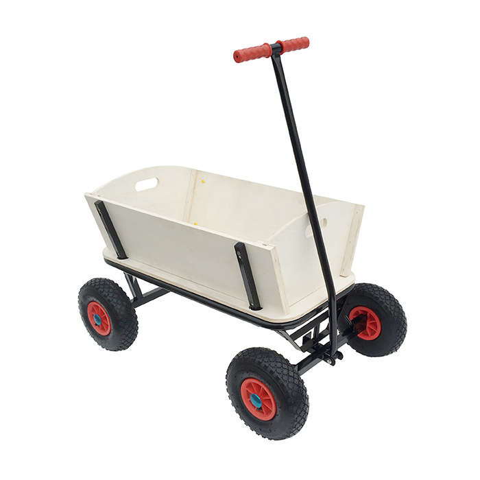 Qingtai QT5027 Wooden Wagon For Kids With Flexible Front & Amp
