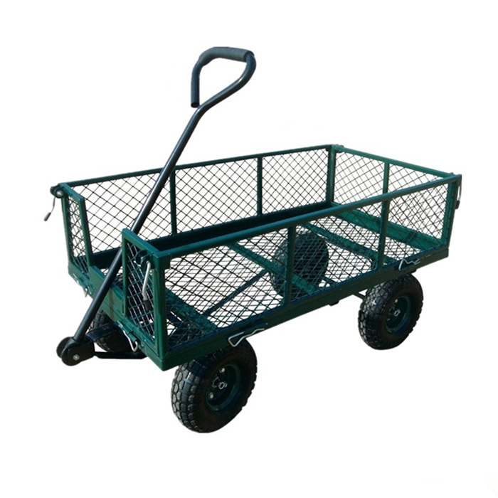 Qingtai QT5043 Mesh Folding Garden Tool trolley Cart wagon cart