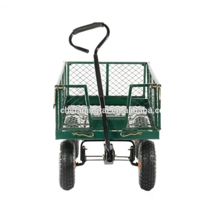 product-QINGTAI-Qingtai QT5043 Mesh Folding Garden Tool trolley Cart wagon cart-img