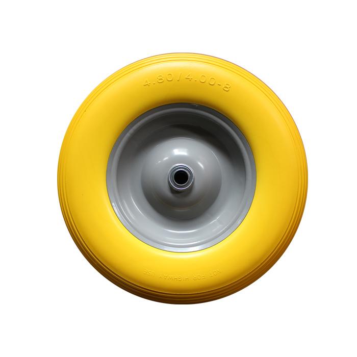 400-8 PU Wheel&pneumatic tires (iron rim)-QINGTAI