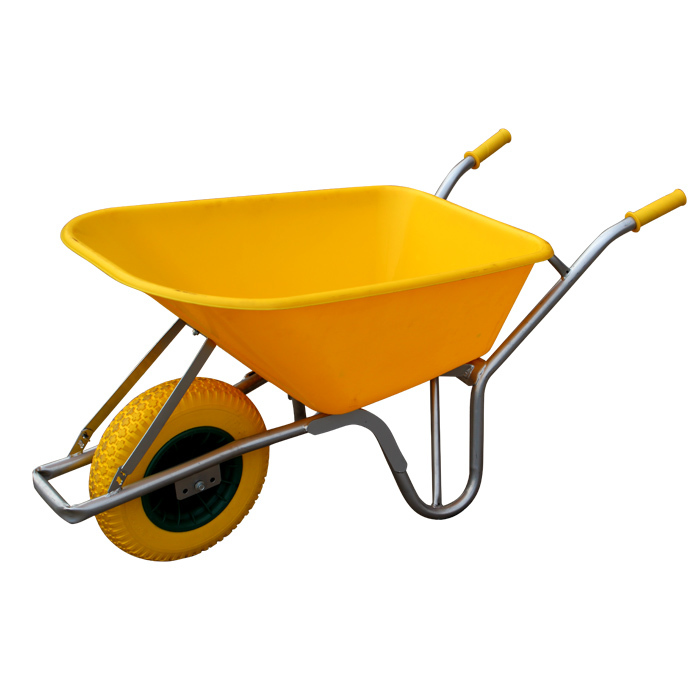 Qingtai QT0201 Plastic Tray Heavy Duty Wheelbarrow