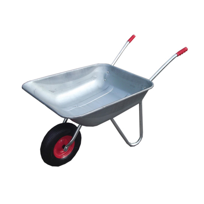 Qingtai QT1038 Galvanized Tray Construction garden Wheelbarrow