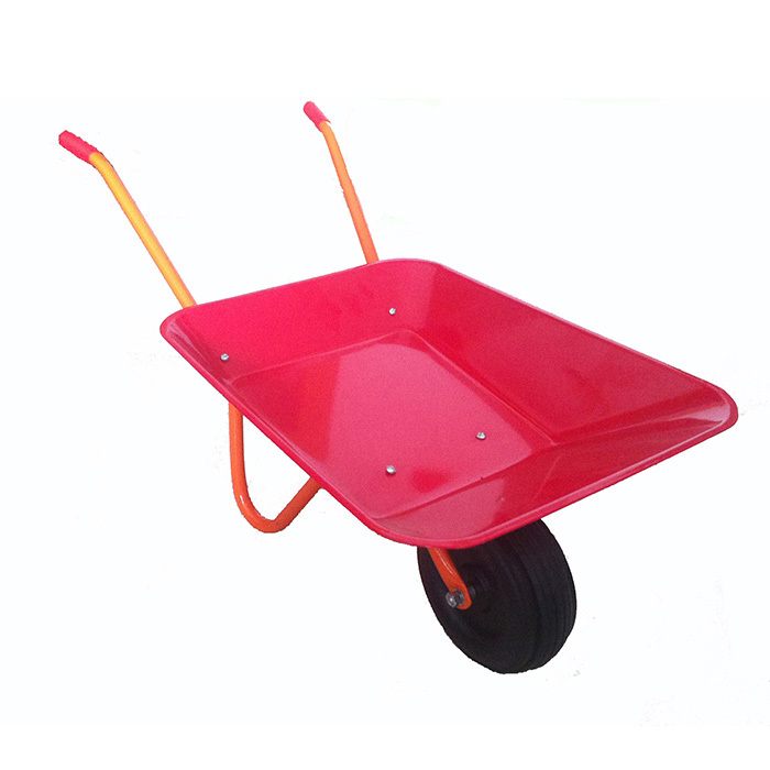 Qingtai QT1028 Powder Coated Toy Garden Wheelbarrow