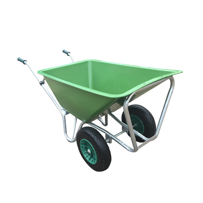 Qingtai QT1080 Plastic Tray One Wheel Heavy Duty Wheelbarrow