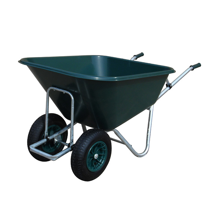 Qingtai QT1083 Big Load Plastic Tray  yard Wheelbarrow