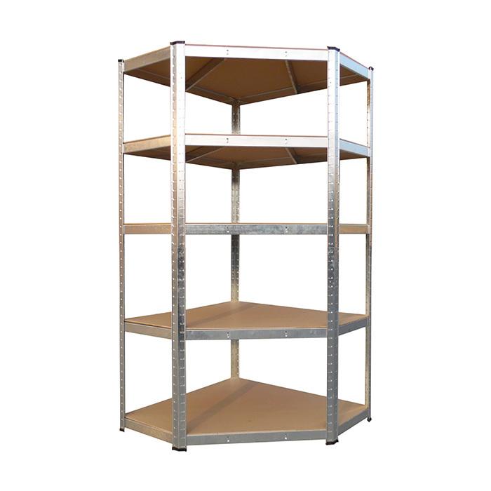 Qingtai QT6283 Galvanized garage   Corner Shelf With 5 Layers