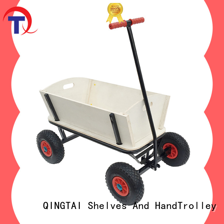 QINGTAI fully functional garden wagon customized for carry mulch