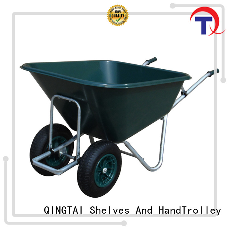 QINGTAI Latest steel wheelbarrows for sale for business for carry mulch