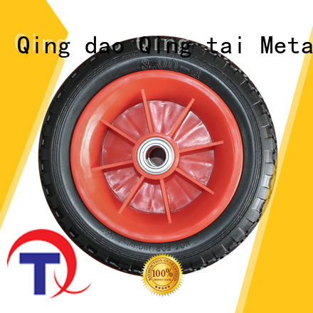 QINGTAI Easy Assembly custom wheels in China for wheelbarrow