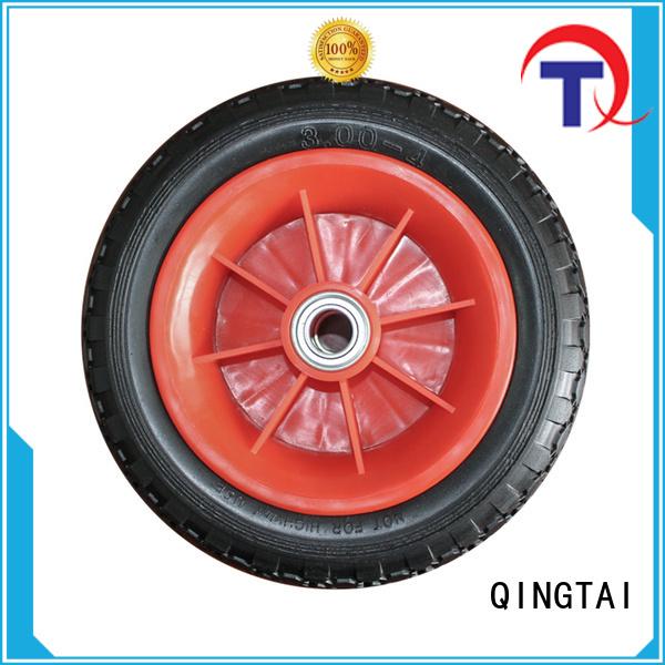 QINGTAI 6 inch wheelbarrow wheel Suppliers for wheelbarrow