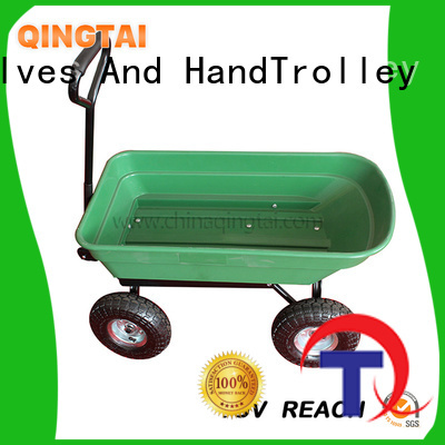 QINGTAI beach wagon cart supplier for carry soil