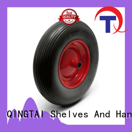 QINGTAI Best quality hand trolley wheel China manufacturer for hand truck