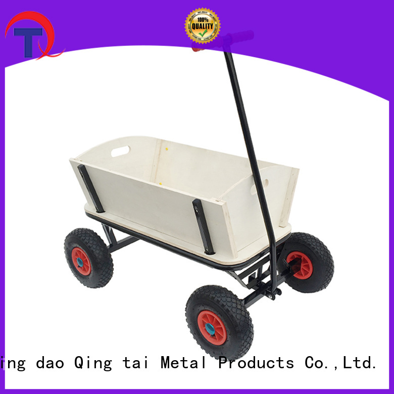QINGTAI fully functional foldable garden cart wholesale for lawn