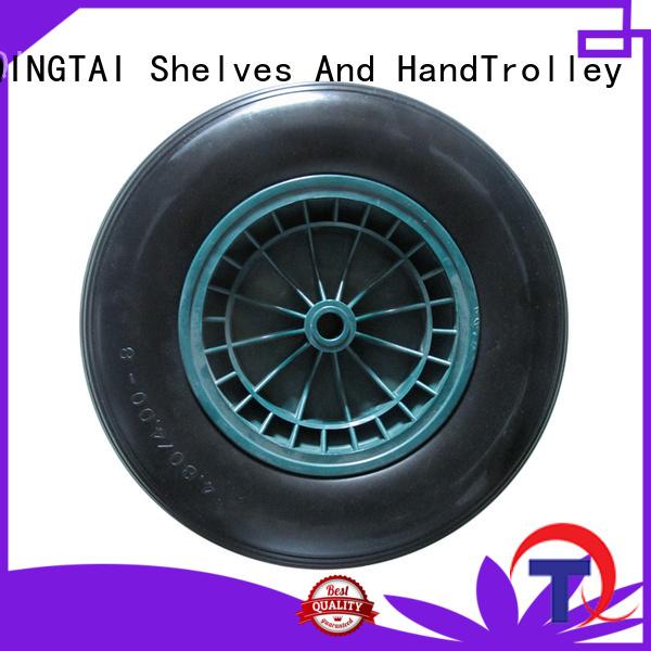 QINGTAI stable wheelbarrow wheel factory for hand trolley