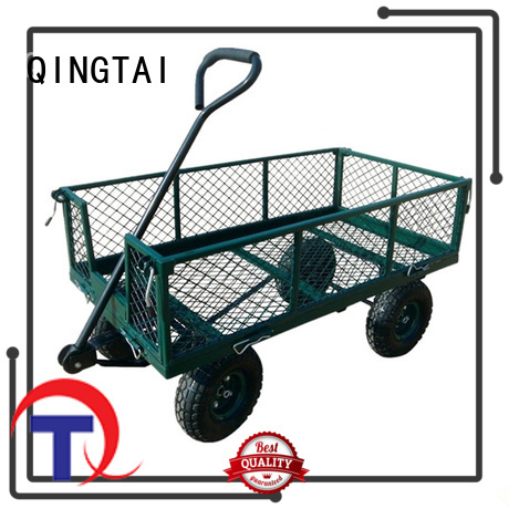 QINGTAI widely use garden push cart company for carry rocks
