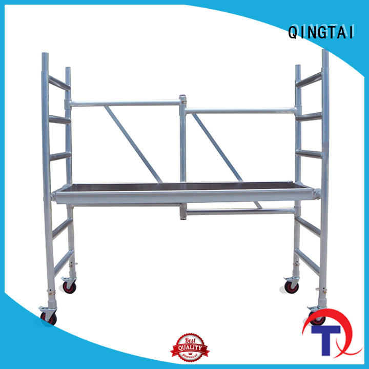 QINGTAI durable aluminium mobile scaffold company for outdoor multi-scene construction