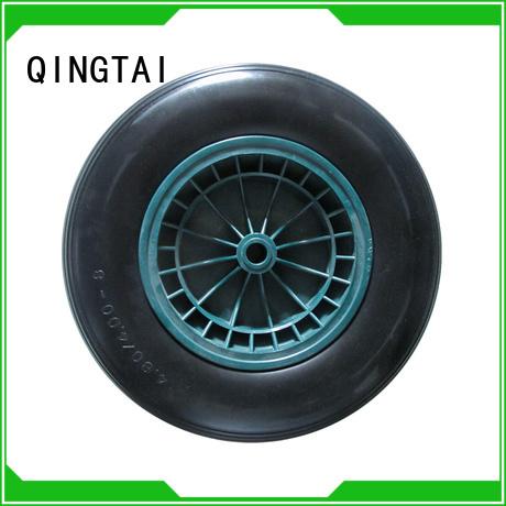 QINGTAI High-quality wheelbarrow wheel 16 Factory price for garden cart