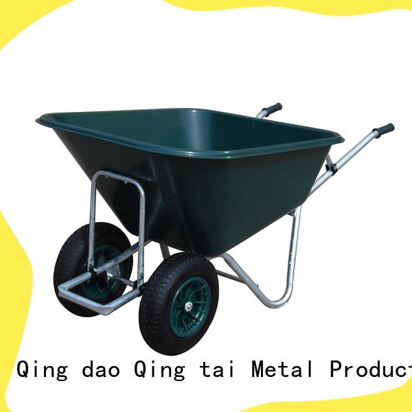QINGTAI professional two wheel plastic wheelbarrow China for carry mulch