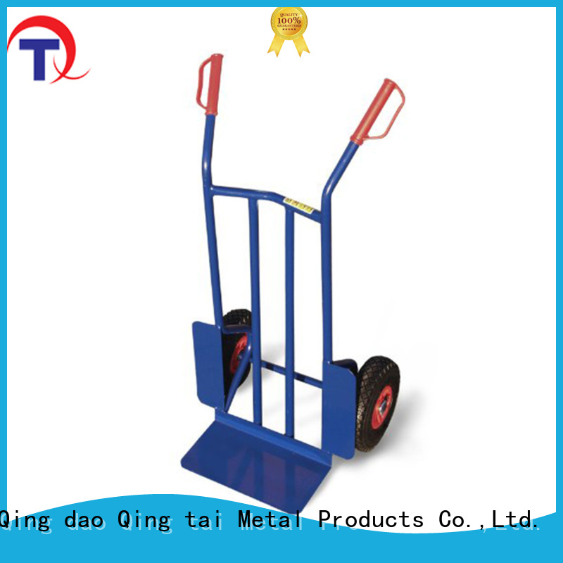 QINGTAI folding hand truck trolley factory for unload heavy objects