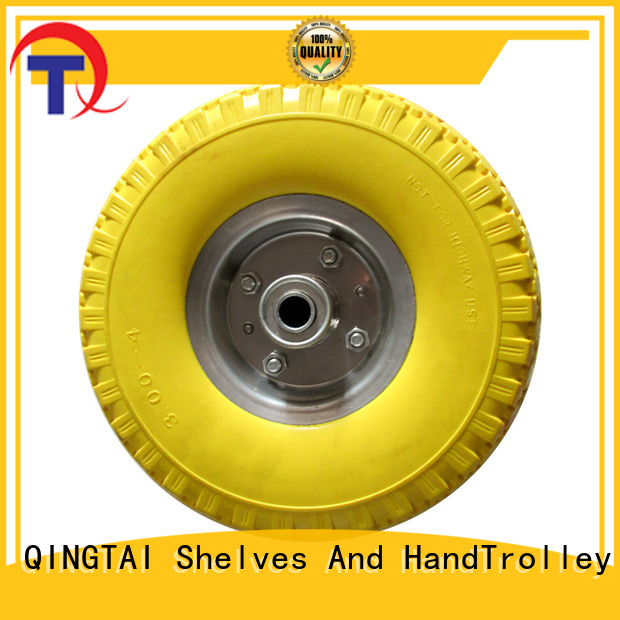 QINGTAI Top quality wheelbarrow wheels China for garden cart