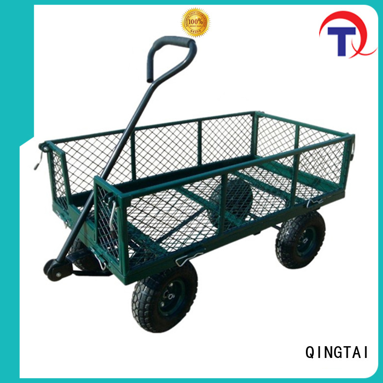 QINGTAI foldable wagon China manufacturer for yard