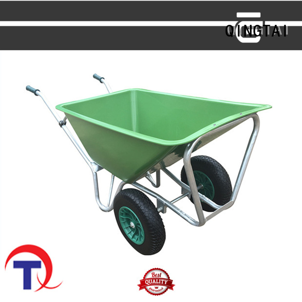 QINGTAI High-quality three wheel barrow factory for carry mulch