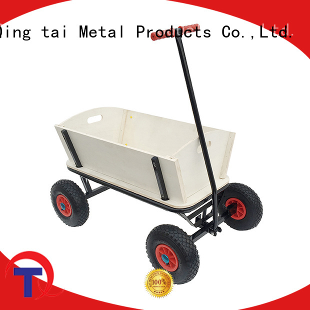 New flatbed garden utility cart China manufacturer for garden