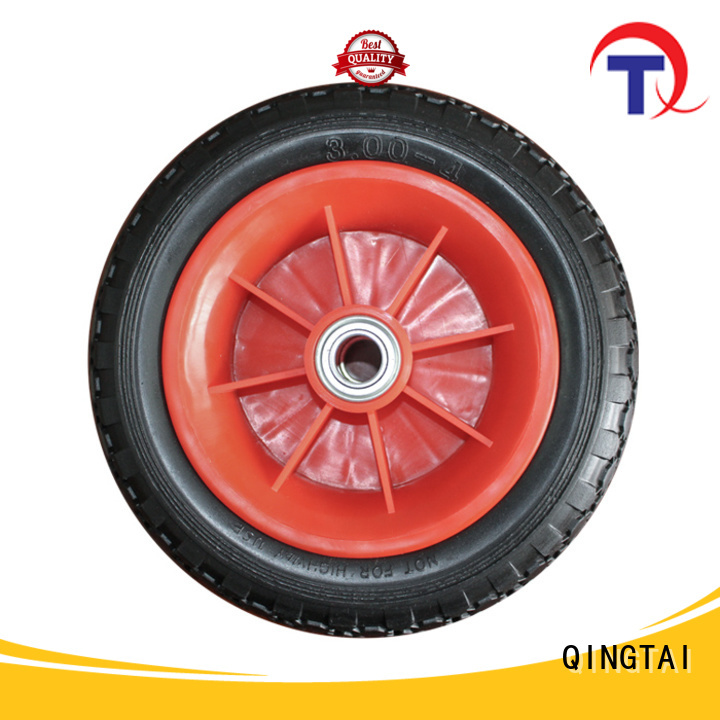 QINGTAI professional wheelbarrow wheels customized for hand truck