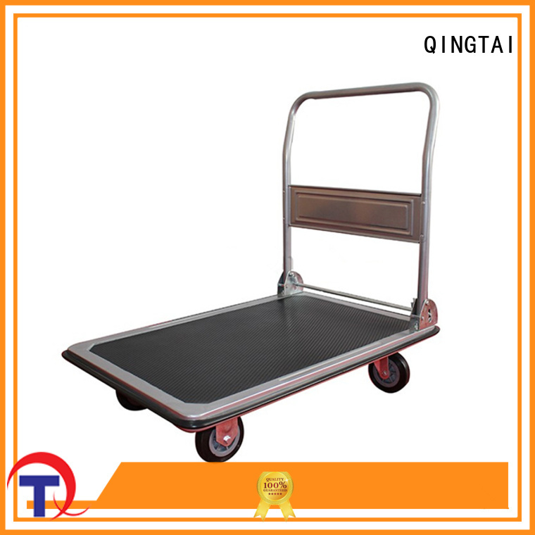 QINGTAI durable folding hand cart manufacturer for heavy transport