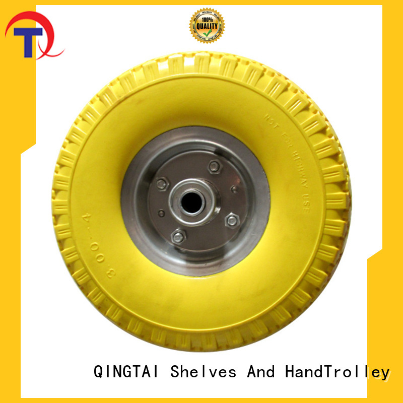 QINGTAI wheelbarrow wheel flat supplier for hand truck