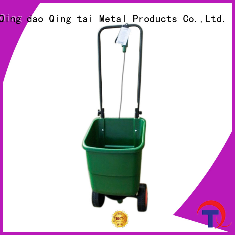 commercial fertilizer spreader China manufacturer for outdoor Spaces QINGTAI