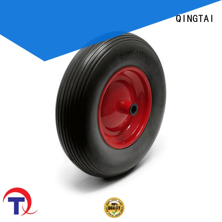 QINGTAI strong wheelbarrow wheels supplier for hand cart