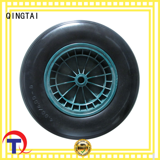 QINGTAI pneumatic wheels tires China manufacturer for garden cart