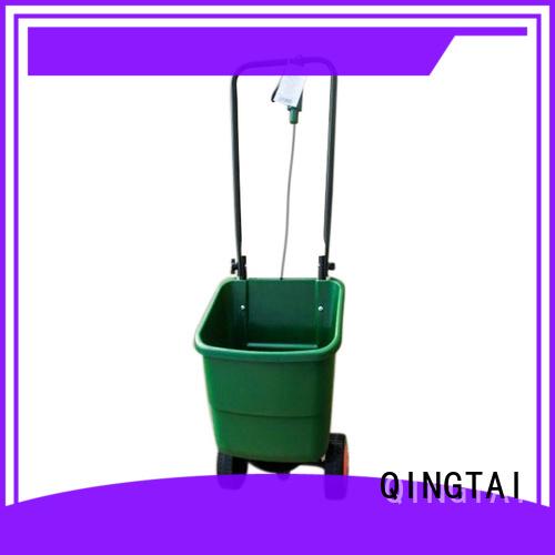 QINGTAI metal broadcast spreader customized for garden