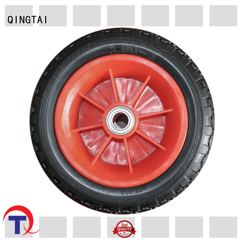 QINGTAI wheelbarrow wheel tire manufacturer for wheelbarrow
