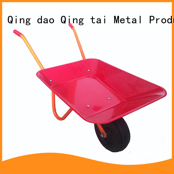 QINGTAI easy to handle large wheelbarrows for sale customized for kids or adults