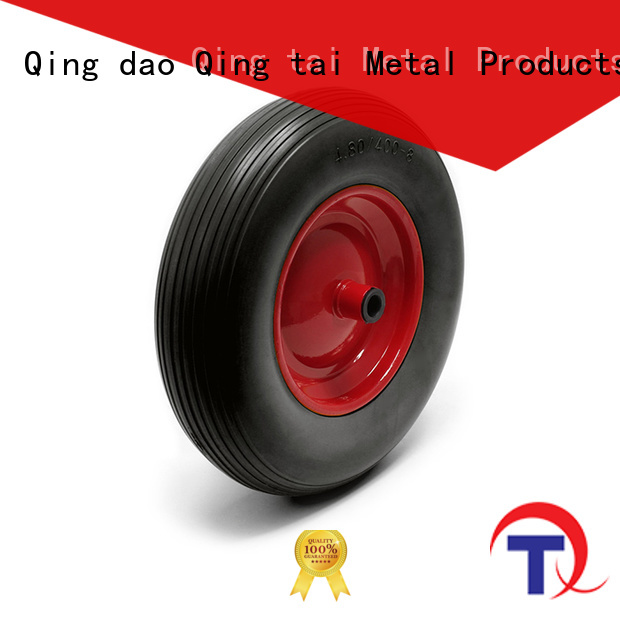 QINGTAI favorable price pneumatic trolley wheels in China for hand truck