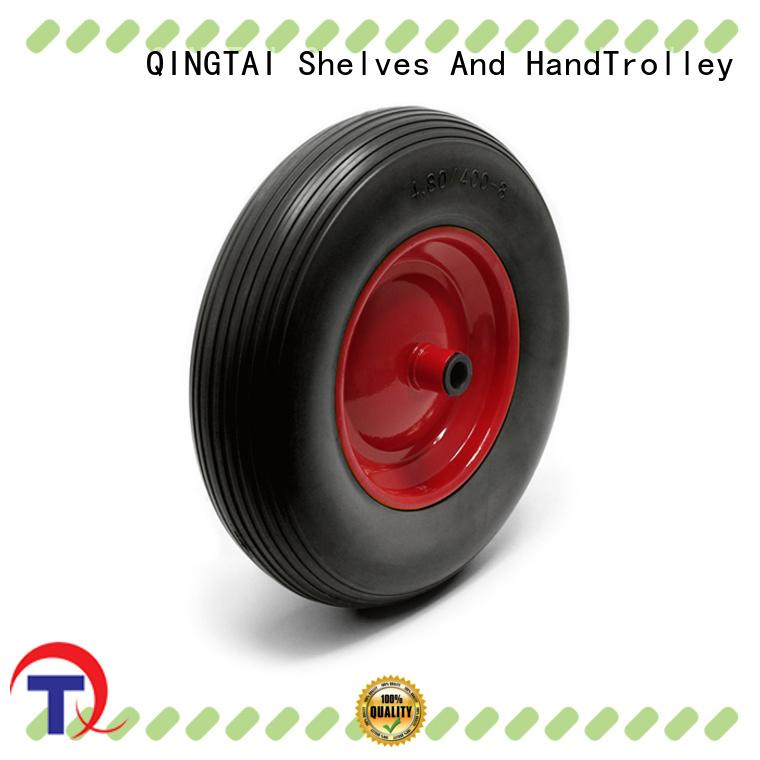 QINGTAI trolley wheels Suppliers for garden cart