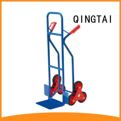 QINGTAI durable collapsible two wheel cart for load heavy objects