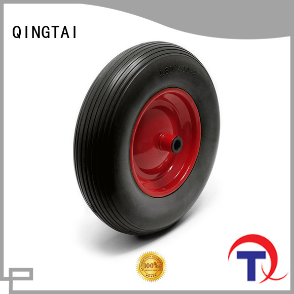 QINGTAI hand cart wheels wholesale for hand cart