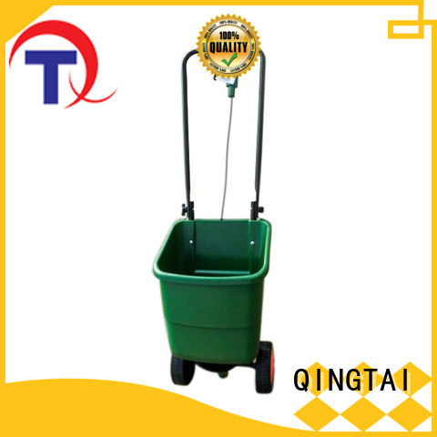 QINGTAI comfortable handle fertilizer spreader for sale manufacturer for gardens