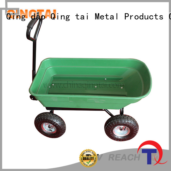 QINGTAI garden trolley cart customized for outdoor Spaces