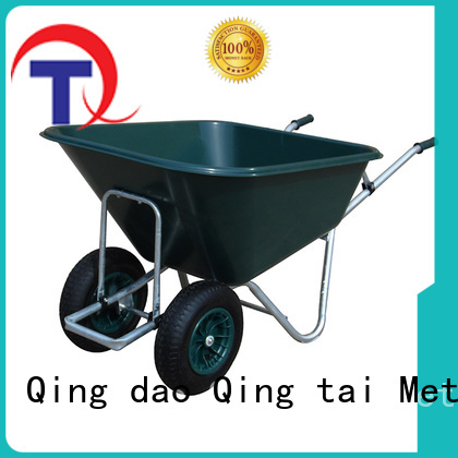 comfortable handle heavy duty wheelbarrow customized for industrial
