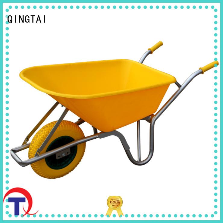 QINGTAI easy to handle garden wheelbarrow factory for yard